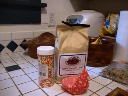 Cupcake Mix; in the corner, rice