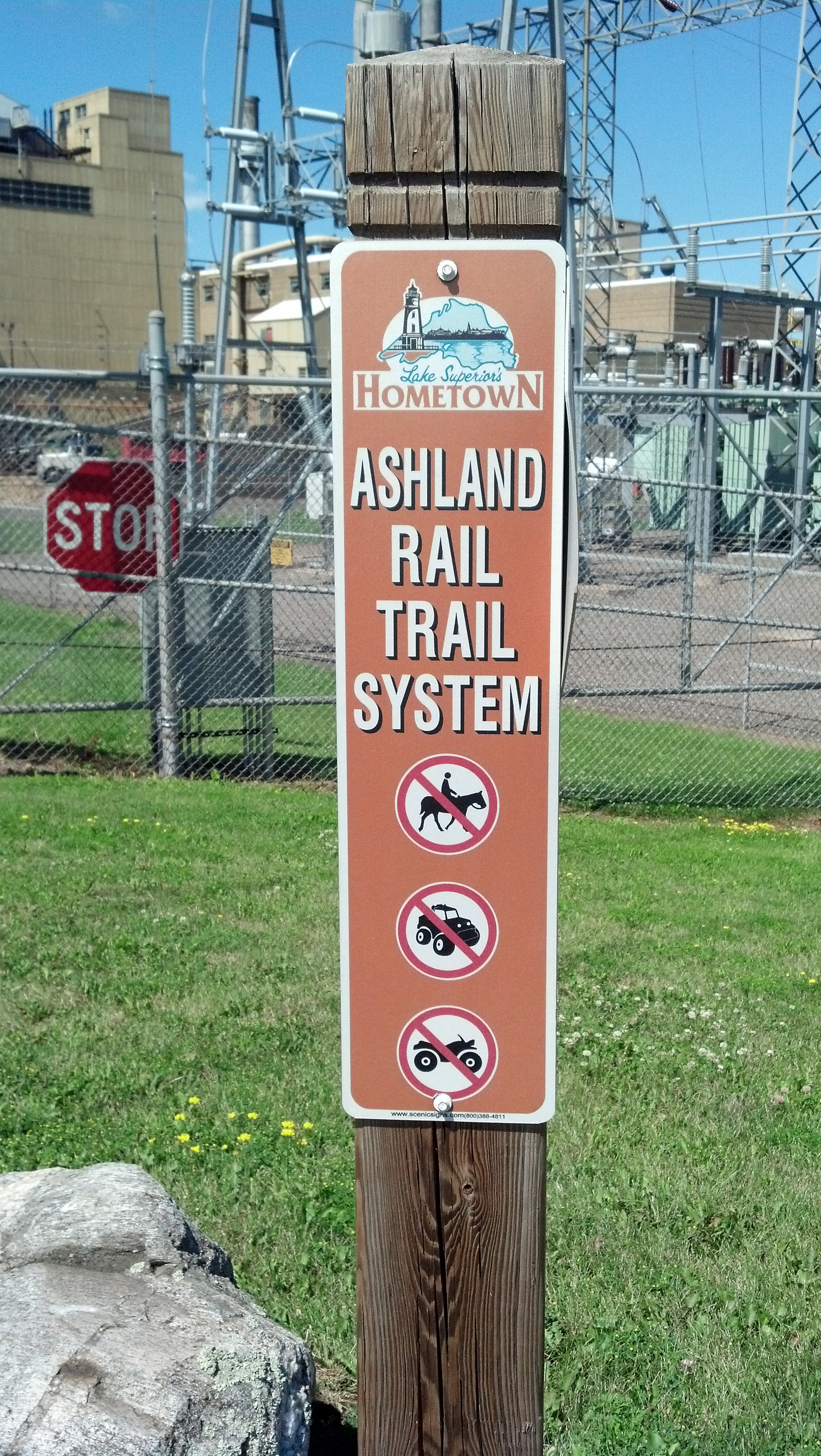 It's a rail trail.