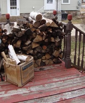 firewood, if we need a little heat
