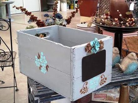 The simple box with decoration