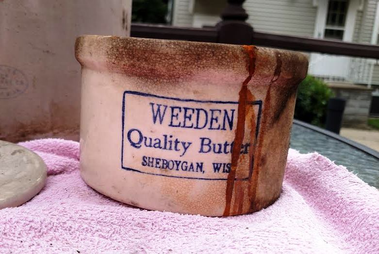 Butter from Sheboygan; and a lot of stain or rust.