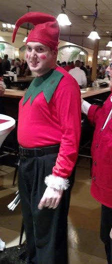 Amigo in his Elf costume